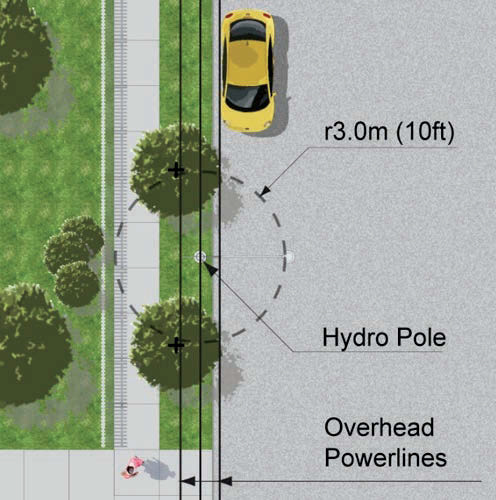 Illustration from ESA's Brochure - Planting Under or Around Powerlines & Electrical Equipment