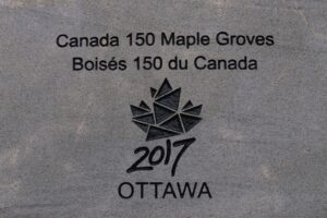 Engraving on Commemorative Rock.